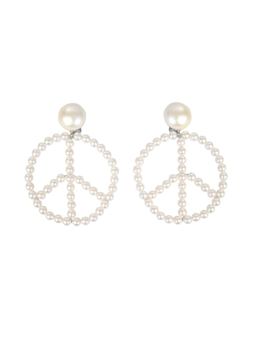 Moschino WHITE OTHER MATERIALS EARRINGS
