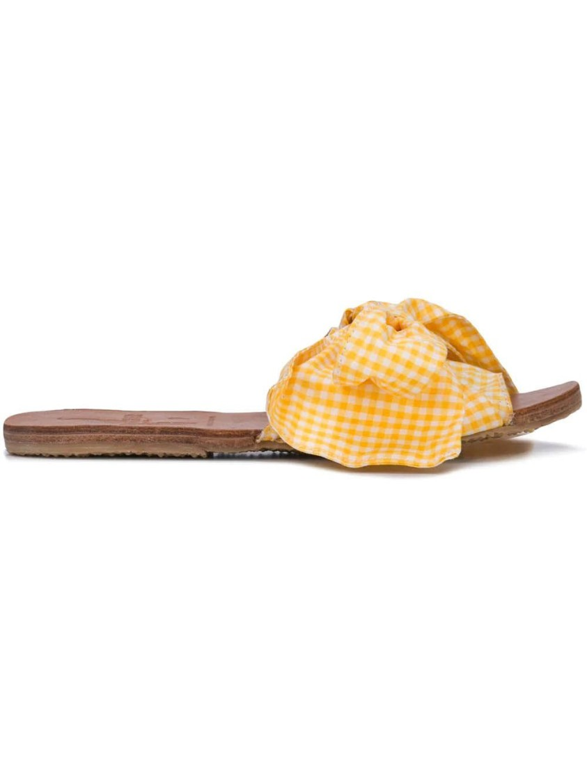 Brother Vellies GINGHAM BURKINA SANDAL