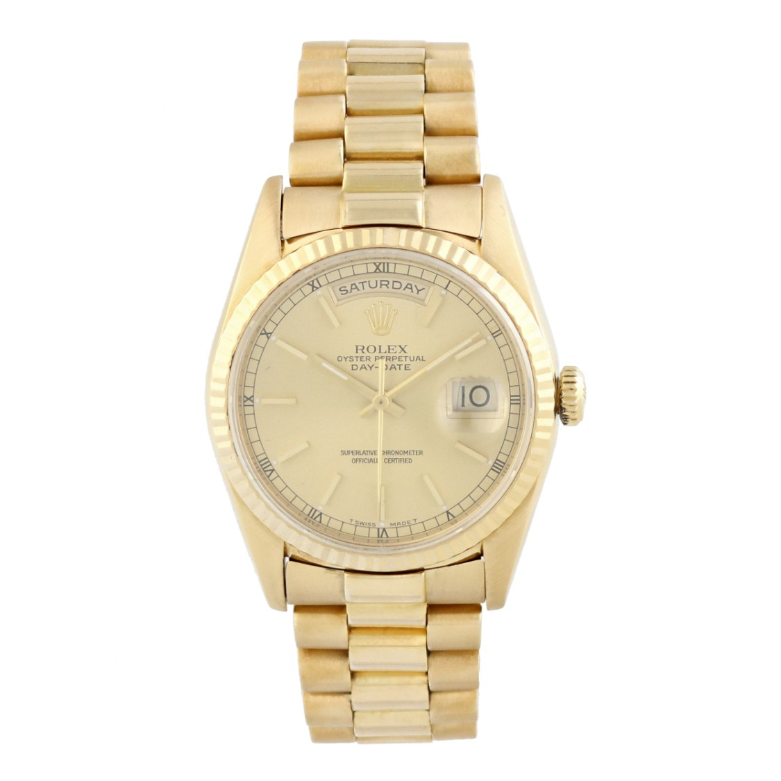 Rolex Lingerie DAY-DATE PRESIDENT 18238 18K YELLOW GOLD WATCH