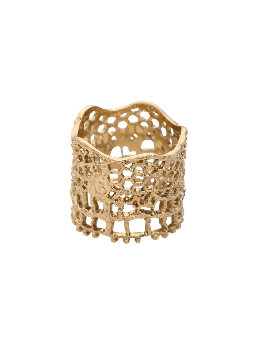 Aurelie Bidermann LACE BAGUE GOLD RING