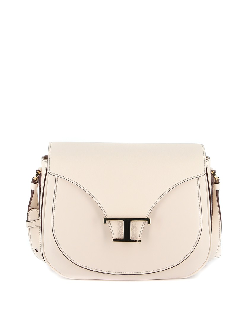 Tod's White Leather Shoulder Bag