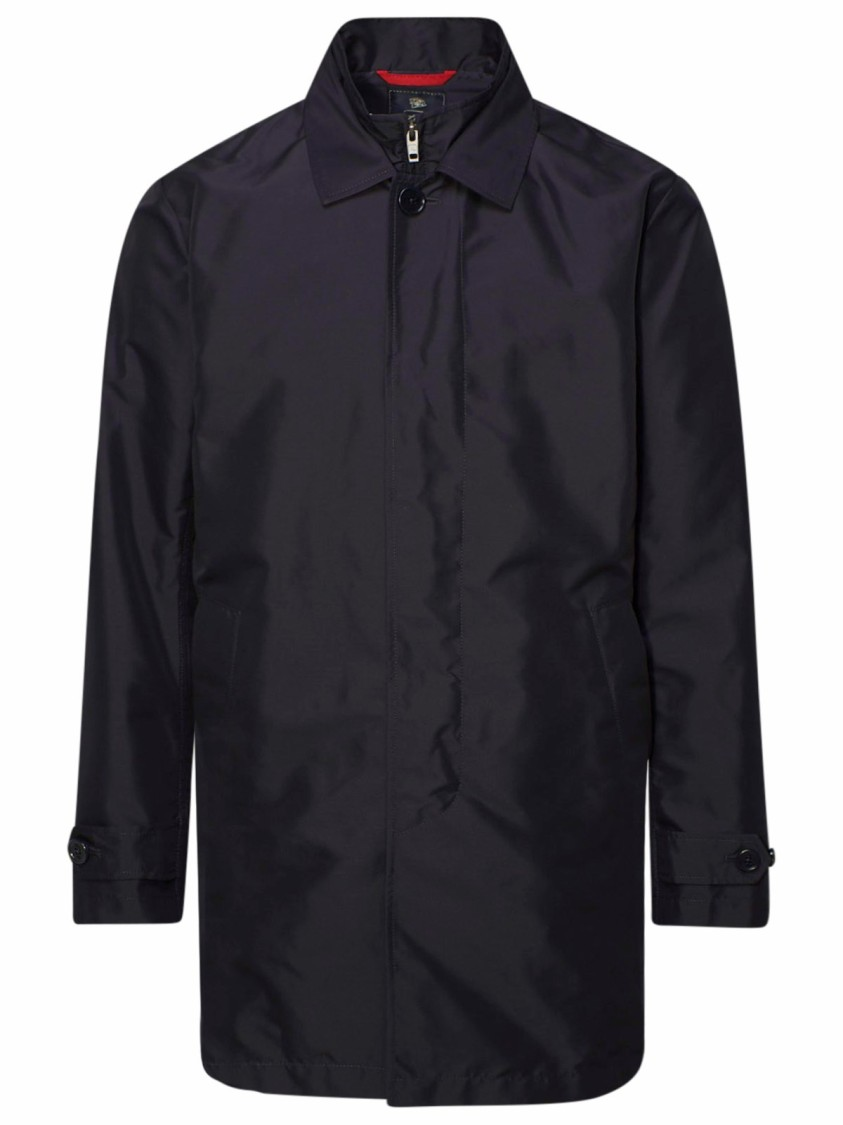 Fay BLUE POLYESTER OUTERWEAR JACKET