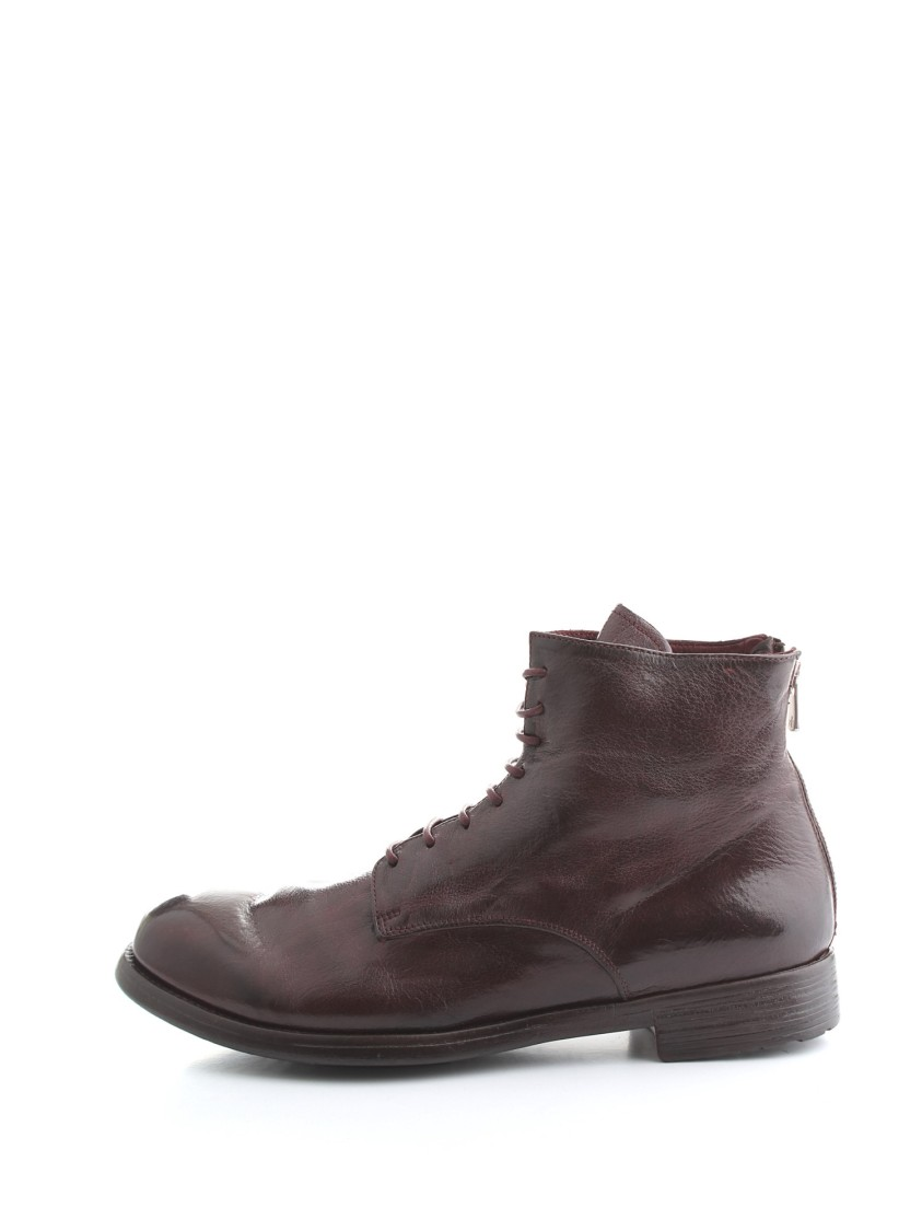 Officine Creative Brown Leather Ankle Boots