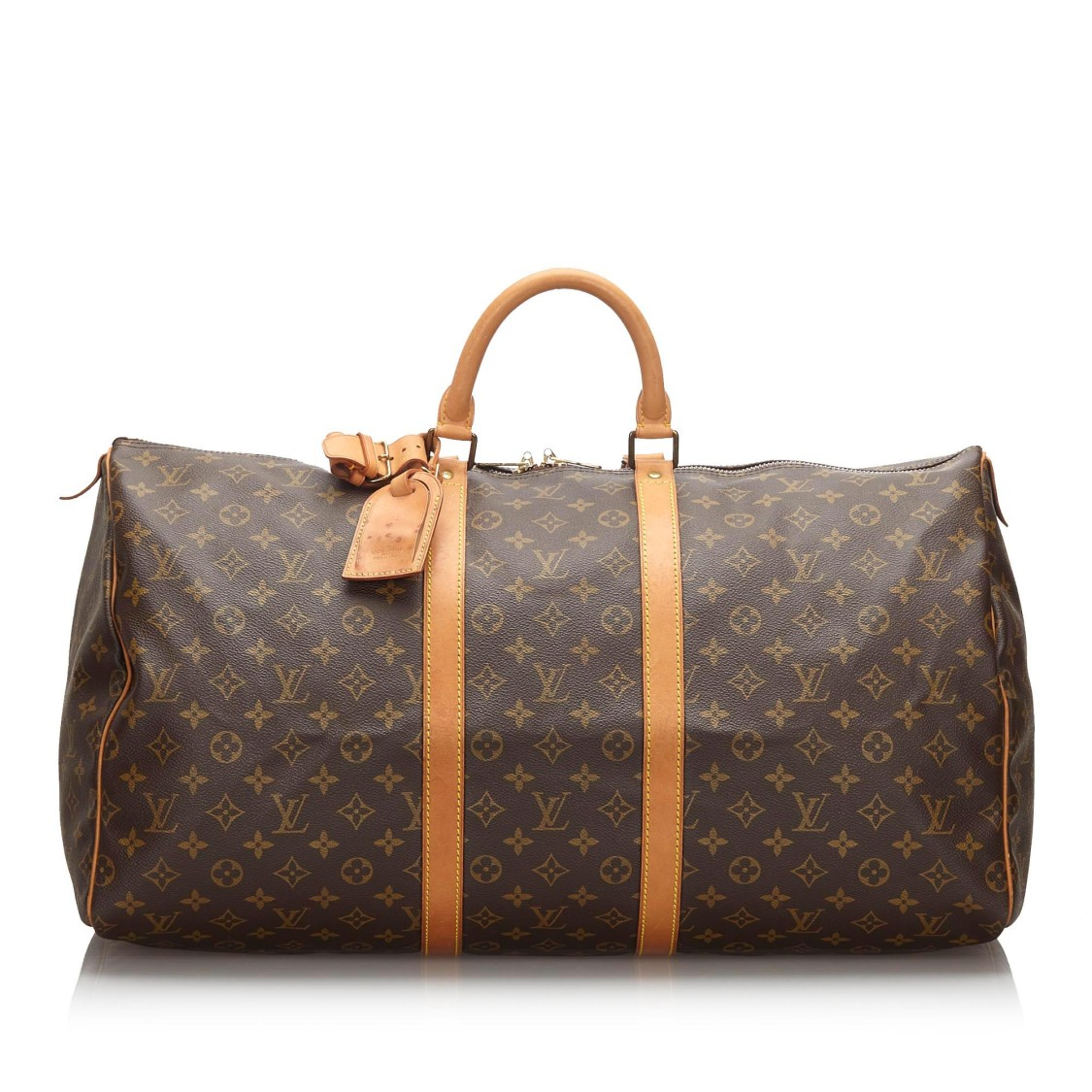 Louis Vuitton Monogram Keepall 55 In Grey