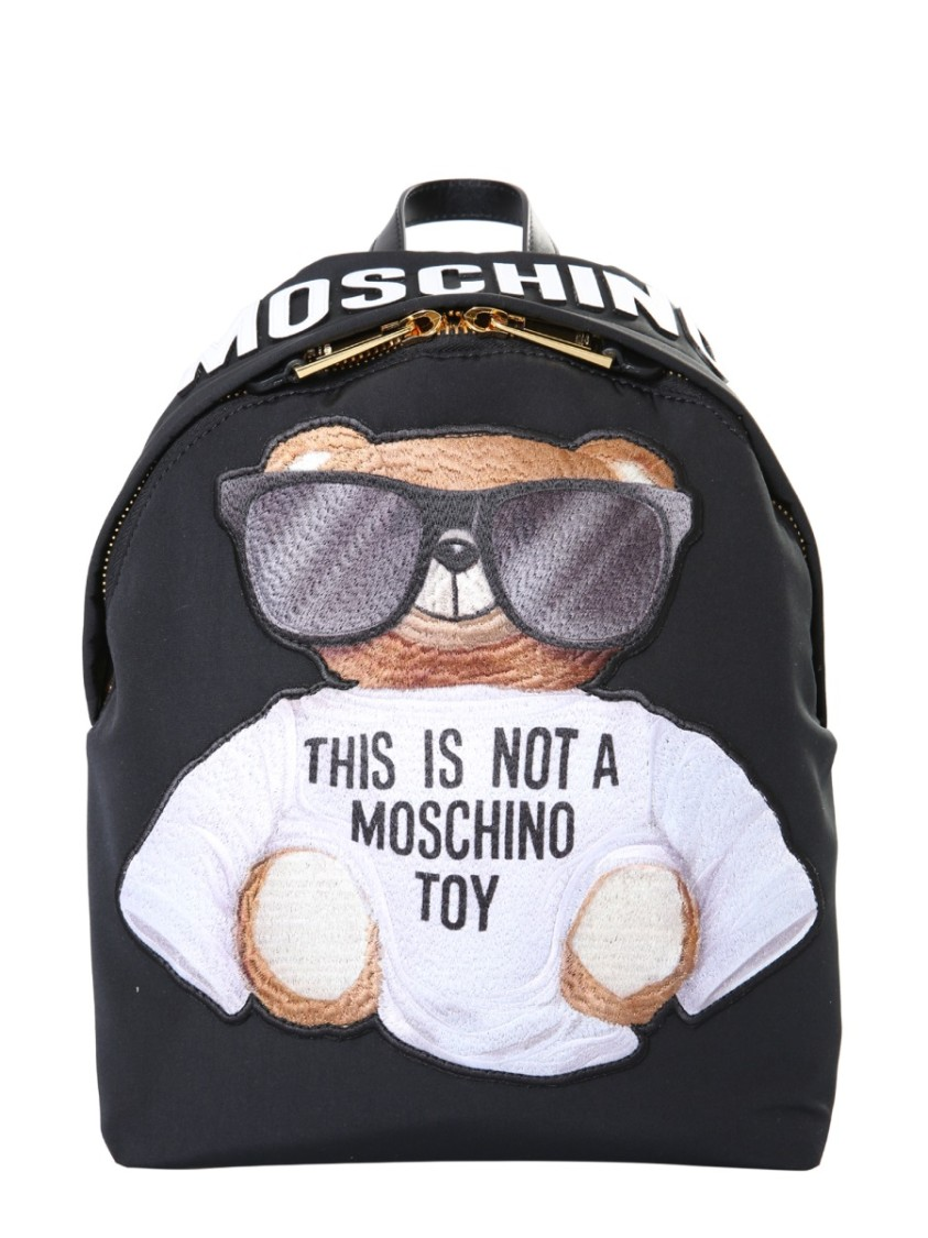 MOSCHINO Black Polyester Backpack