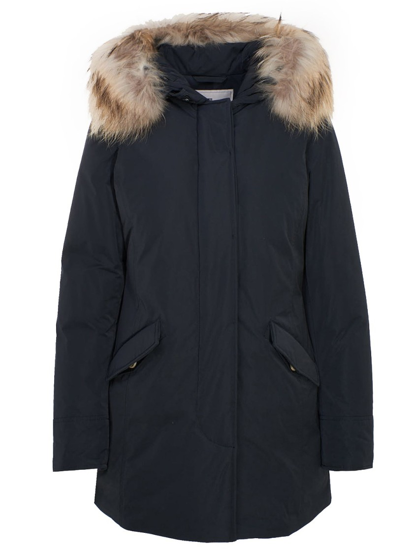 Woolrich BLUE POLYESTER DOWN JACKET