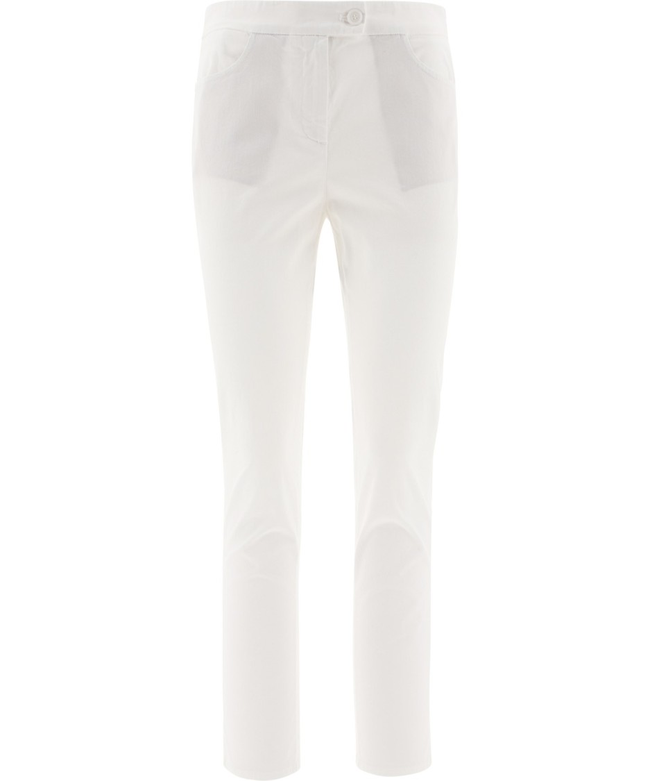 Aspesi Cottons WHITE COTTON PANTS