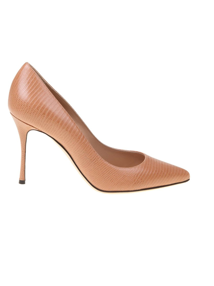 Sergio Rossi Beige Leather Pumps