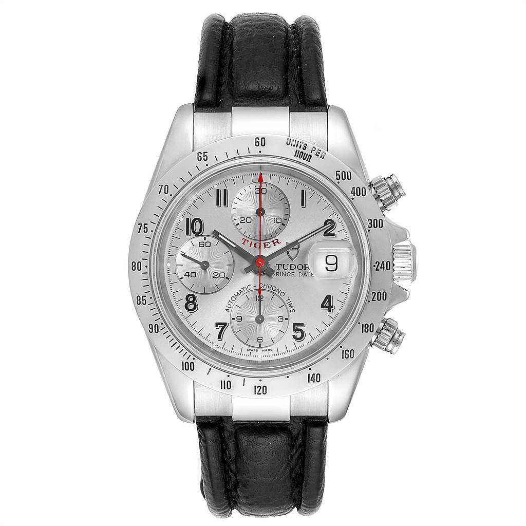 Tudor TIGER WOODS CHRONOGRAPH SILVER DIAL STEEL MENS WATCH 79280