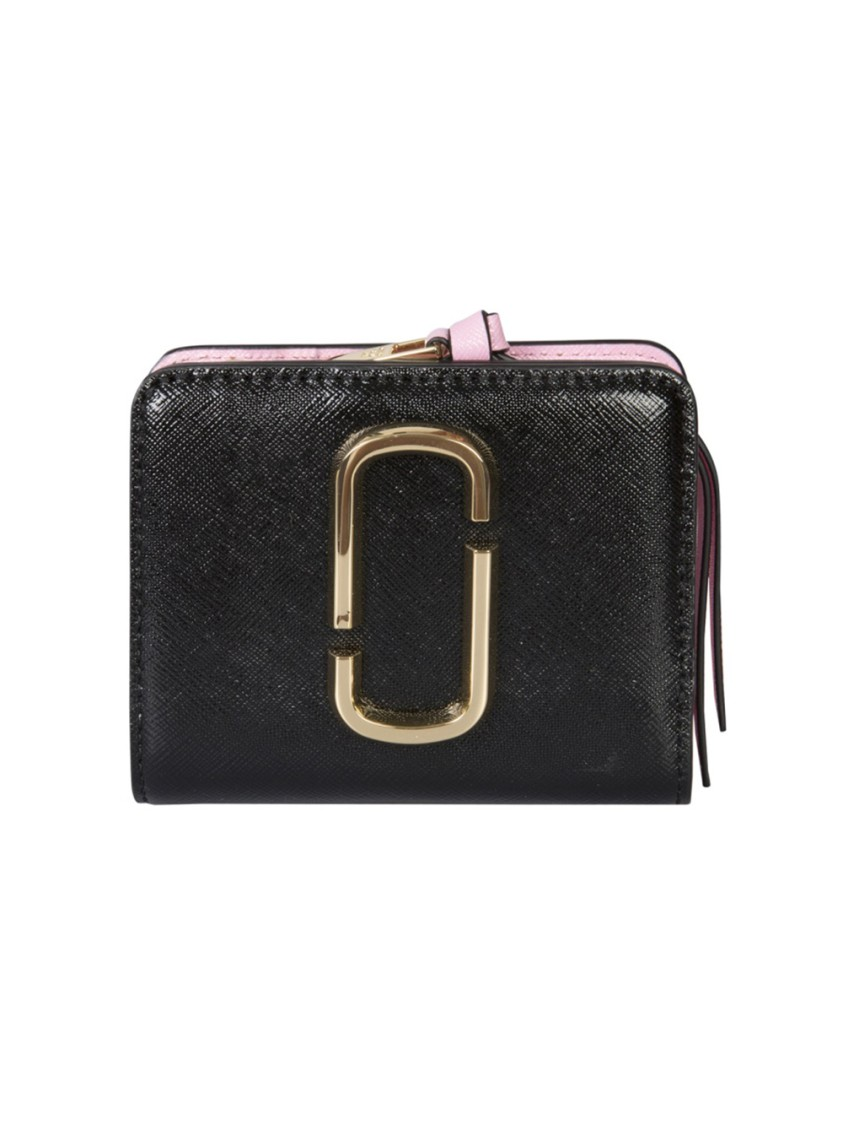 Marc Jacobs Wallets MINI SNAPSHOT BLACK LEATHER WALLET