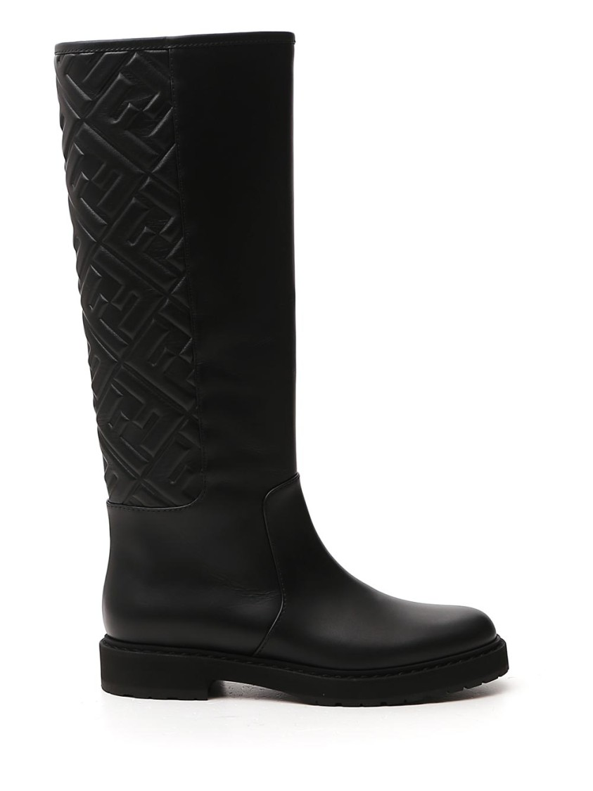 Fendi BLACK LEATHER BOOTS