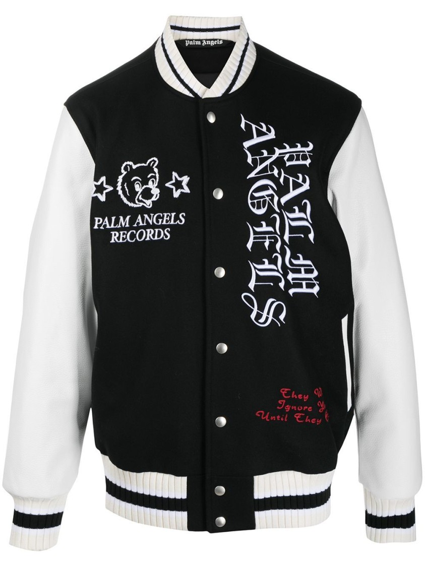 Palm Angels BURNING HEAD VARSITY JACKET