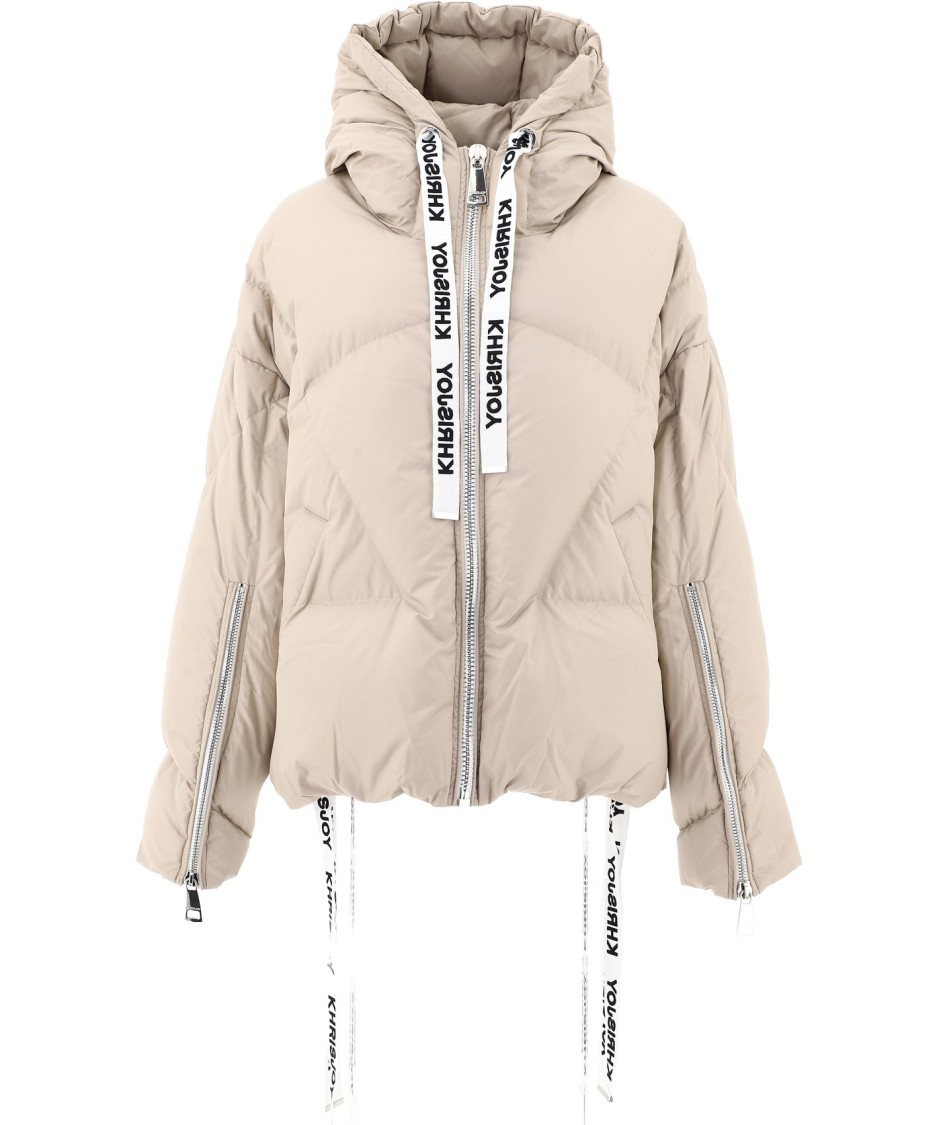 Khrisjoy Khris Iconic Down Jacket In Sand Color In Neutrals