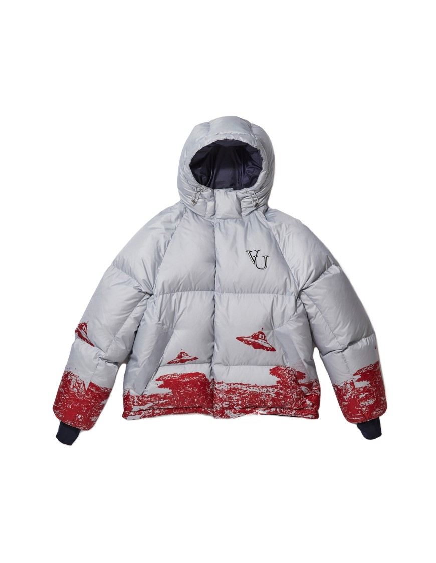 Undercover UNDERCOVER VALENTINO EDITION PRINTED PUFFER JACKET