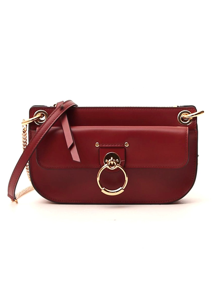 Chloé TESS MINI RED LEATHER SHOULDER BAG