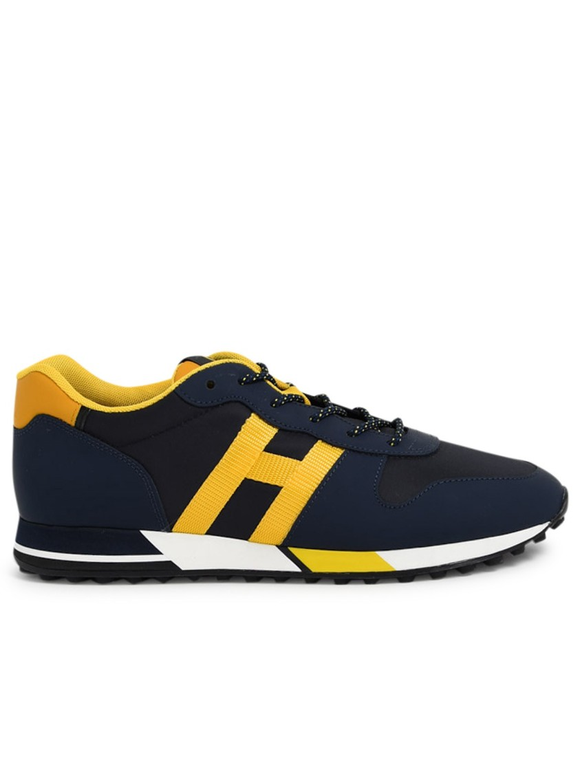 Hogan Suedes BLUE/YELLOW SUEDE SNEAKERS