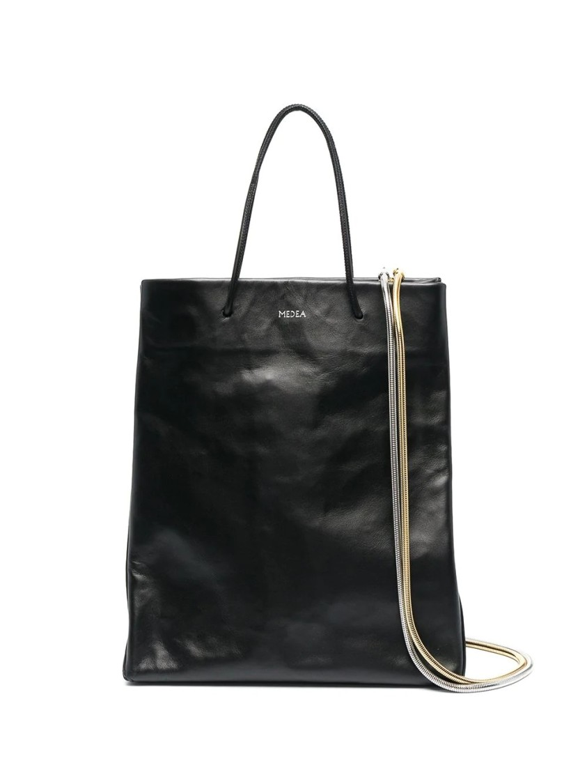 Medea BUSTED CREASED-EFFECT TOTE BAG