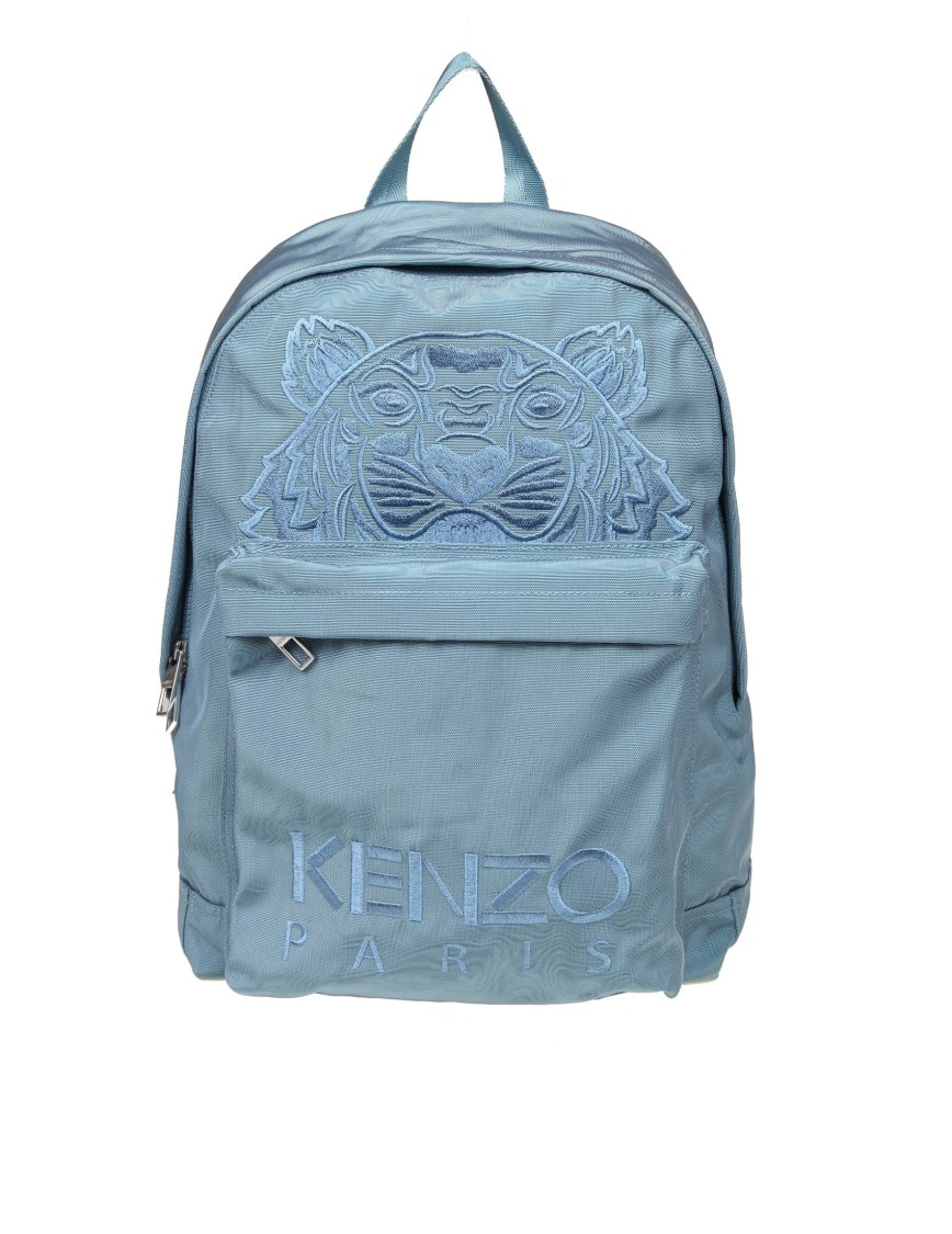 Kenzo LIGHT BLUE NYLON BACKPACK