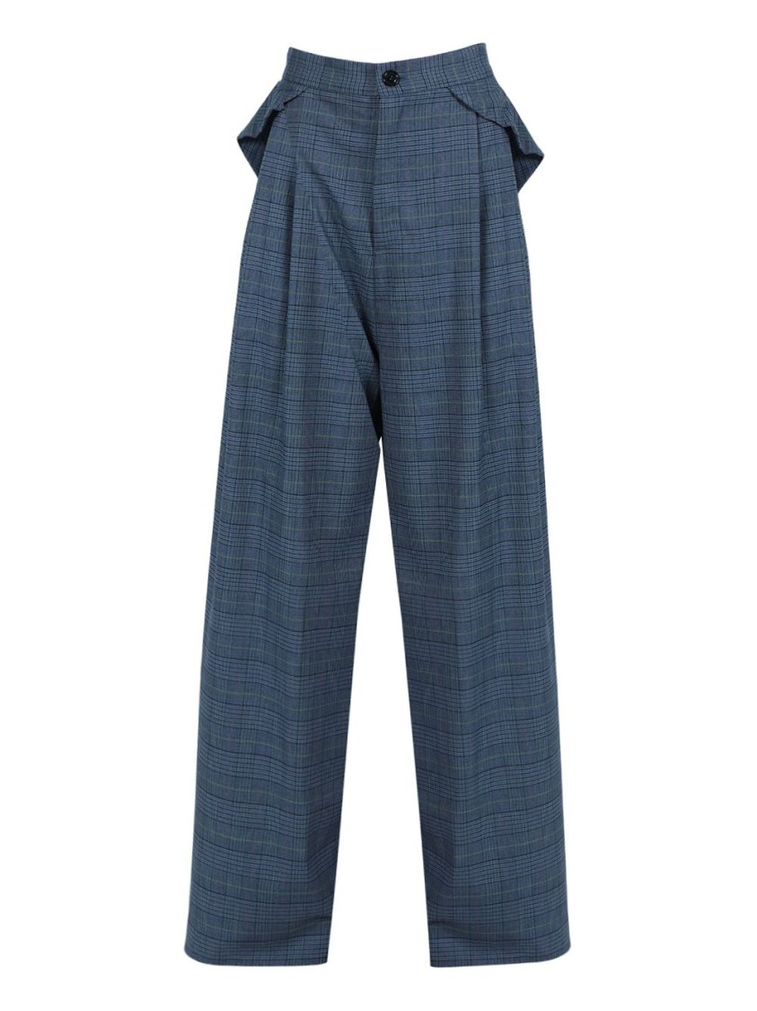 Natasha Zinko GREY SIDE PLEATED TROUSERS