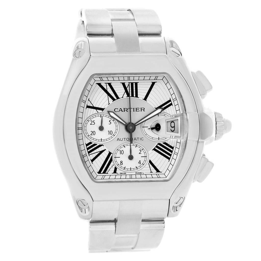 Cartier Lingerie ROADSTER CHRONOGRAPH SILVER DIAL AUTOMATIC MENS WATCH W62019X6