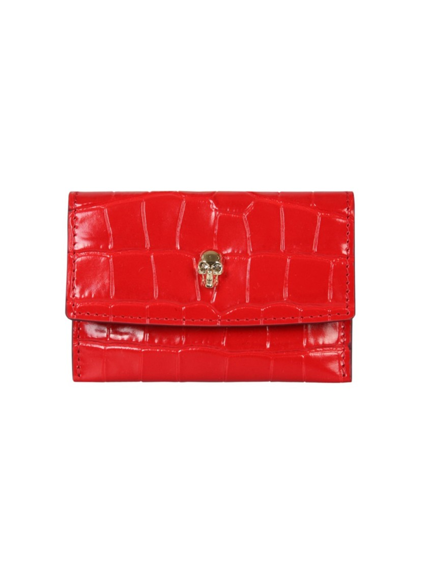 Alexander Mcqueen Cardholders RED LEATHER CARD HOLDER