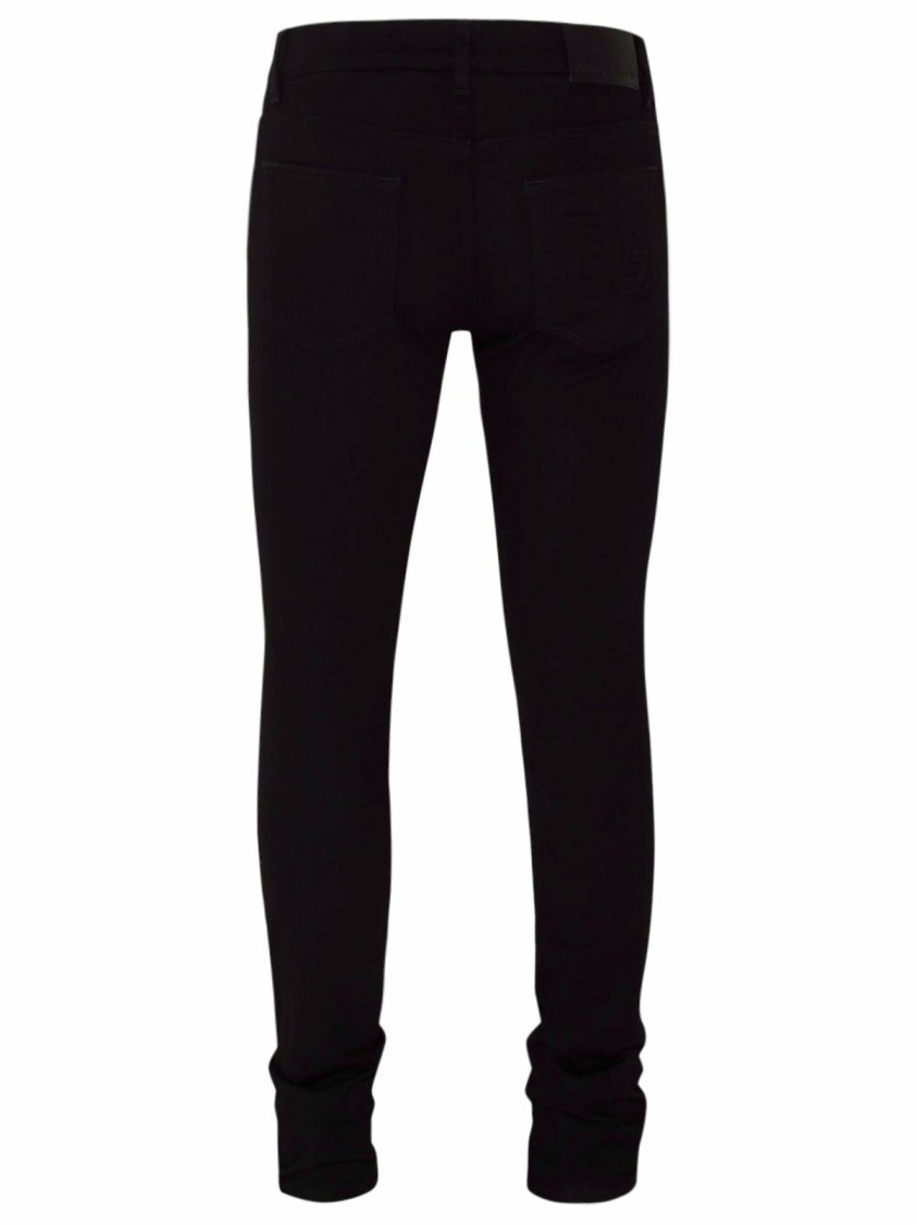 Dolce & Gabbana BLACK COTTON JEANS