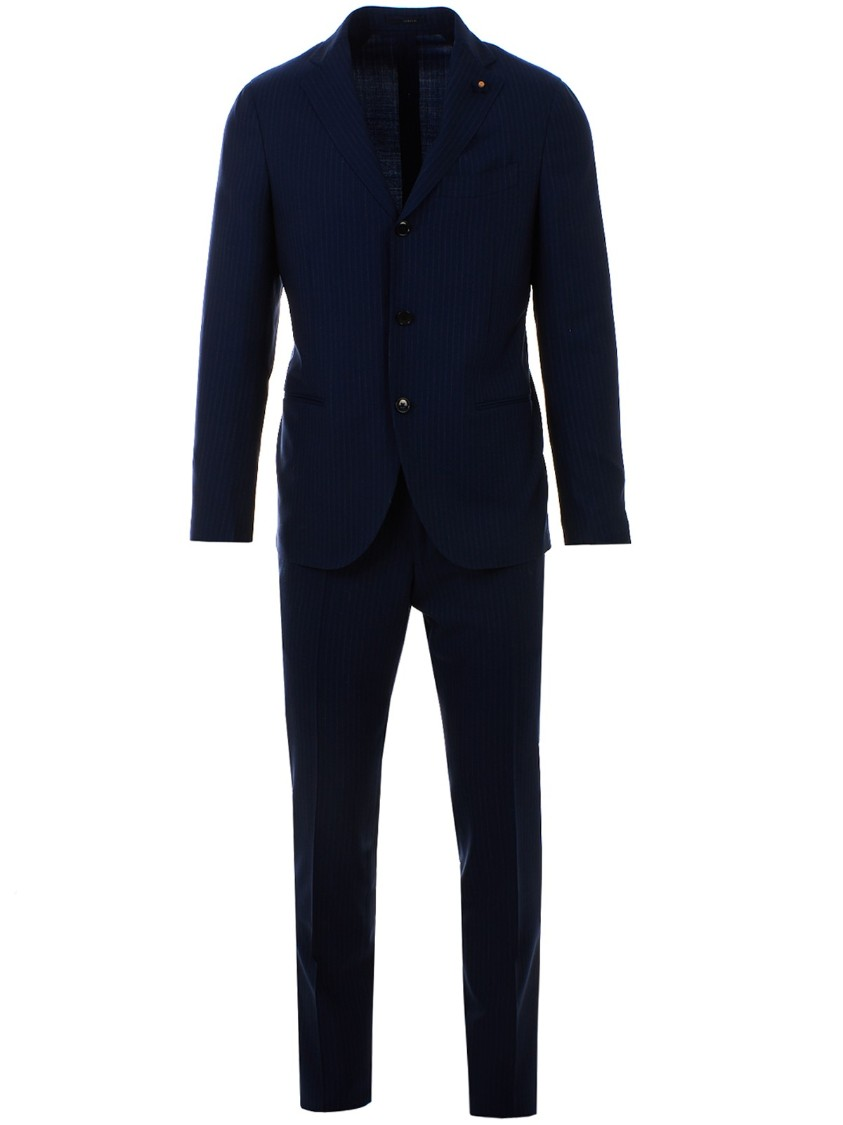 Blue Single-Breasted Suit