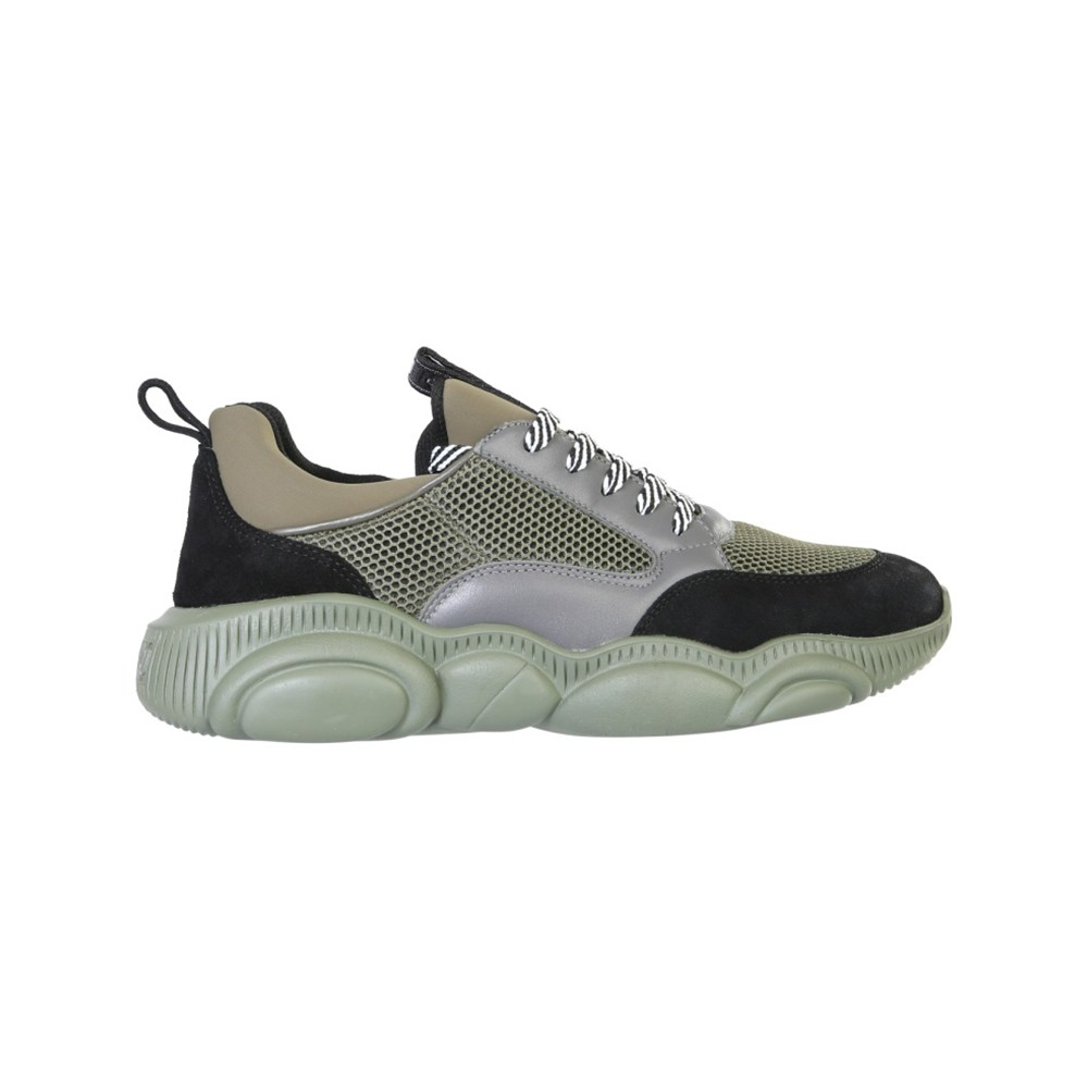 Moschino Teddy Green Polyester Sneakers