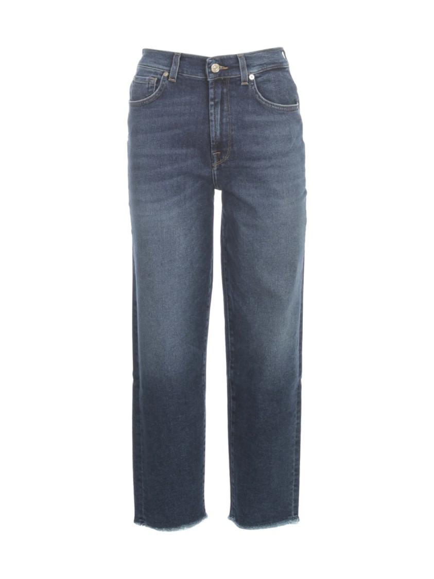 7 FOR ALL MANKIND MALIA LUXE VINTAGE PACIFIC GROVE W/BACK HEM DISTRESSED