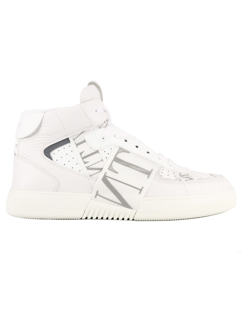 Valentino Leathers White Leather Sneakers