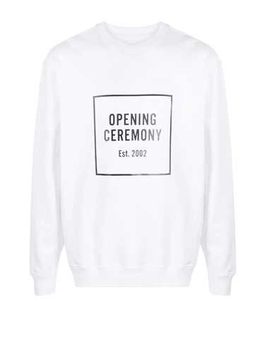 Opening Ceremony WHITE SWEATSHIRT LOGO BOX