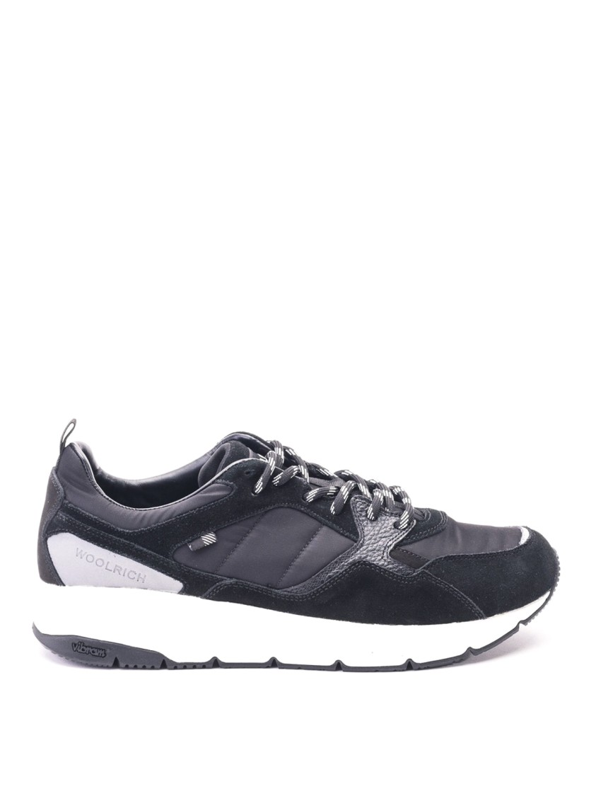 Woolrich Sneakers SUEDE AND LEATHER BLACK SNEAKERS