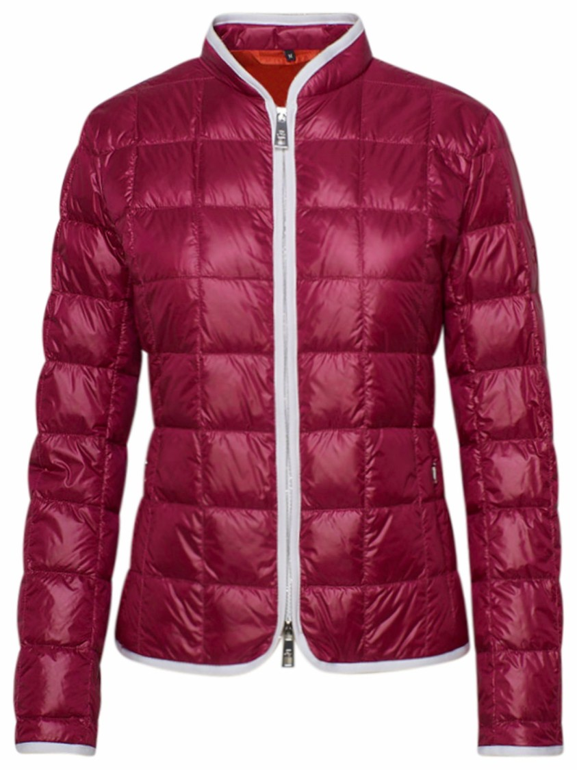 Fay BURGUNDY NYLON DOWN JACKET