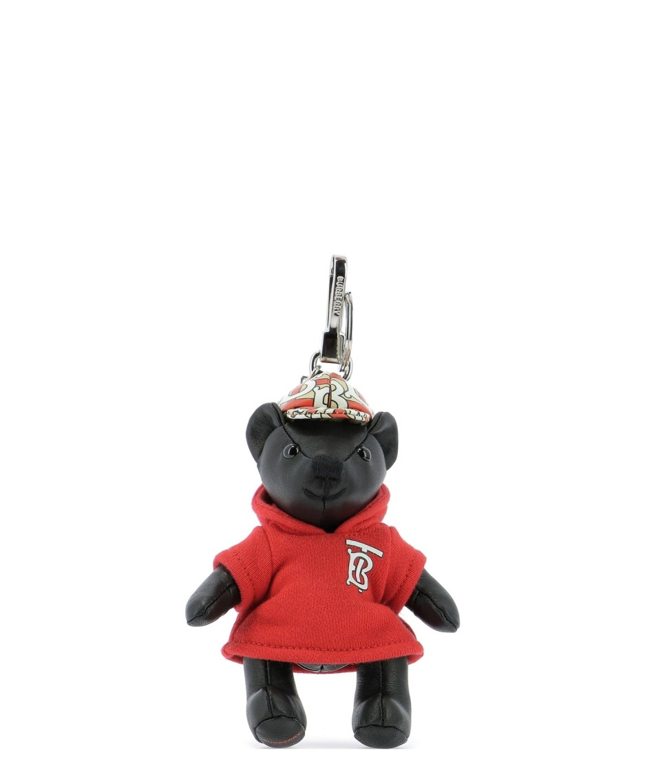 Burberry BEAR BLACK LEATHER KEY CHAIN