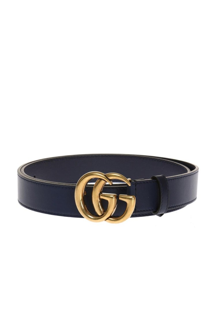 Gucci GG BLUE LEATHER BELT
