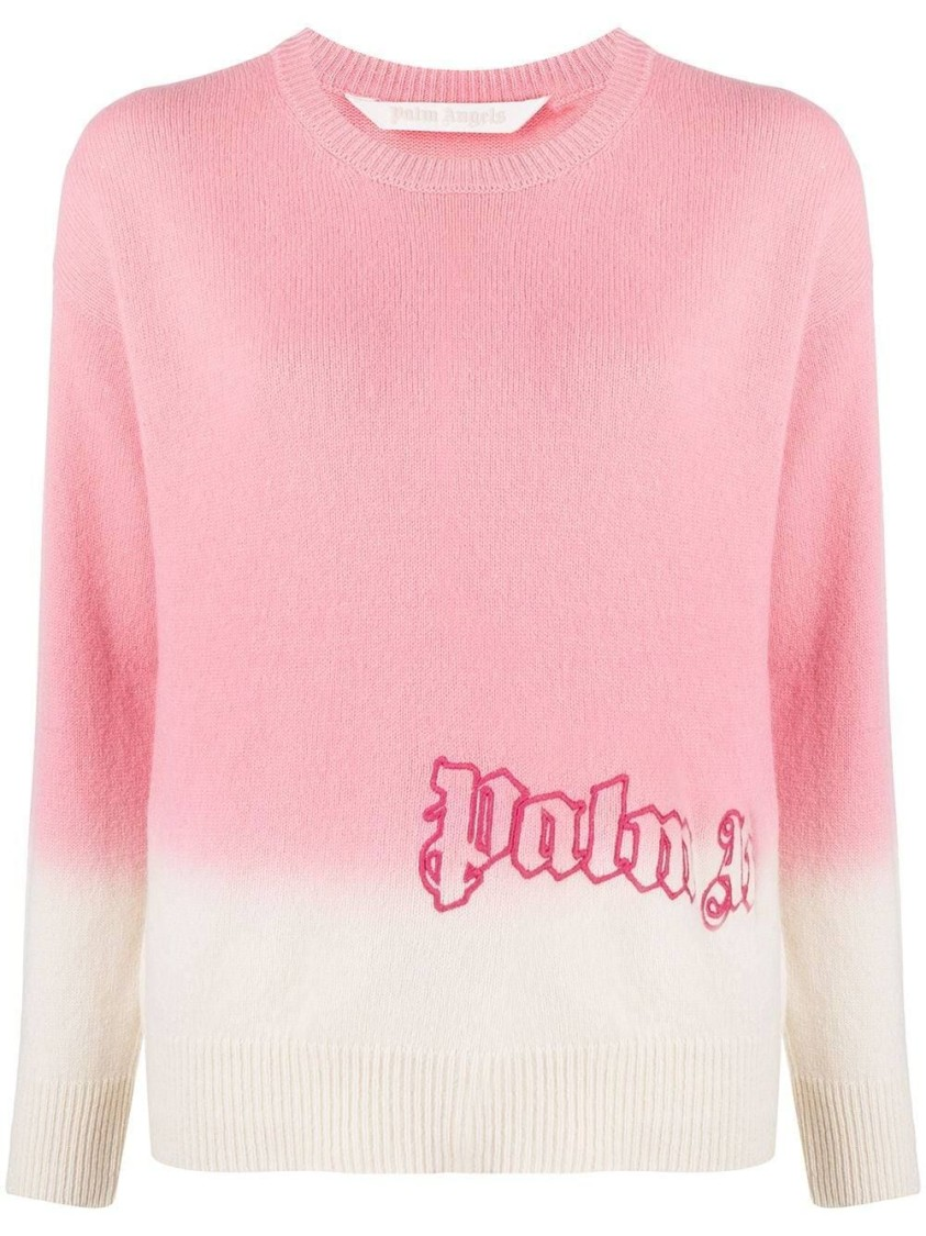 Palm Angels Tops DIP DYE CASHMERE SWEATER