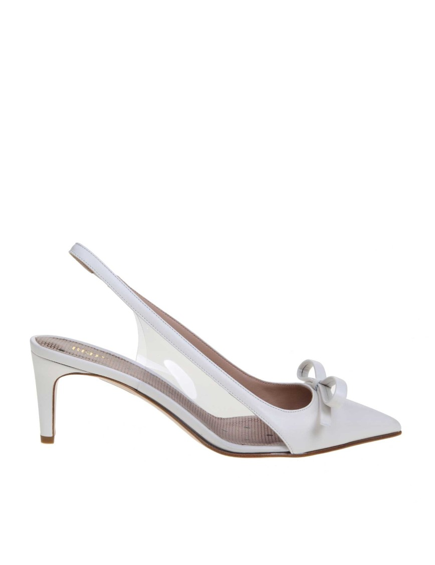 RED VALENTINO WHITE LEATHER SANDALS