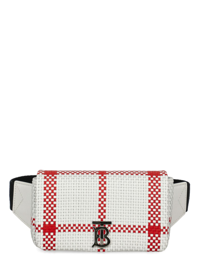 Burberry Leather Belt Bag In White