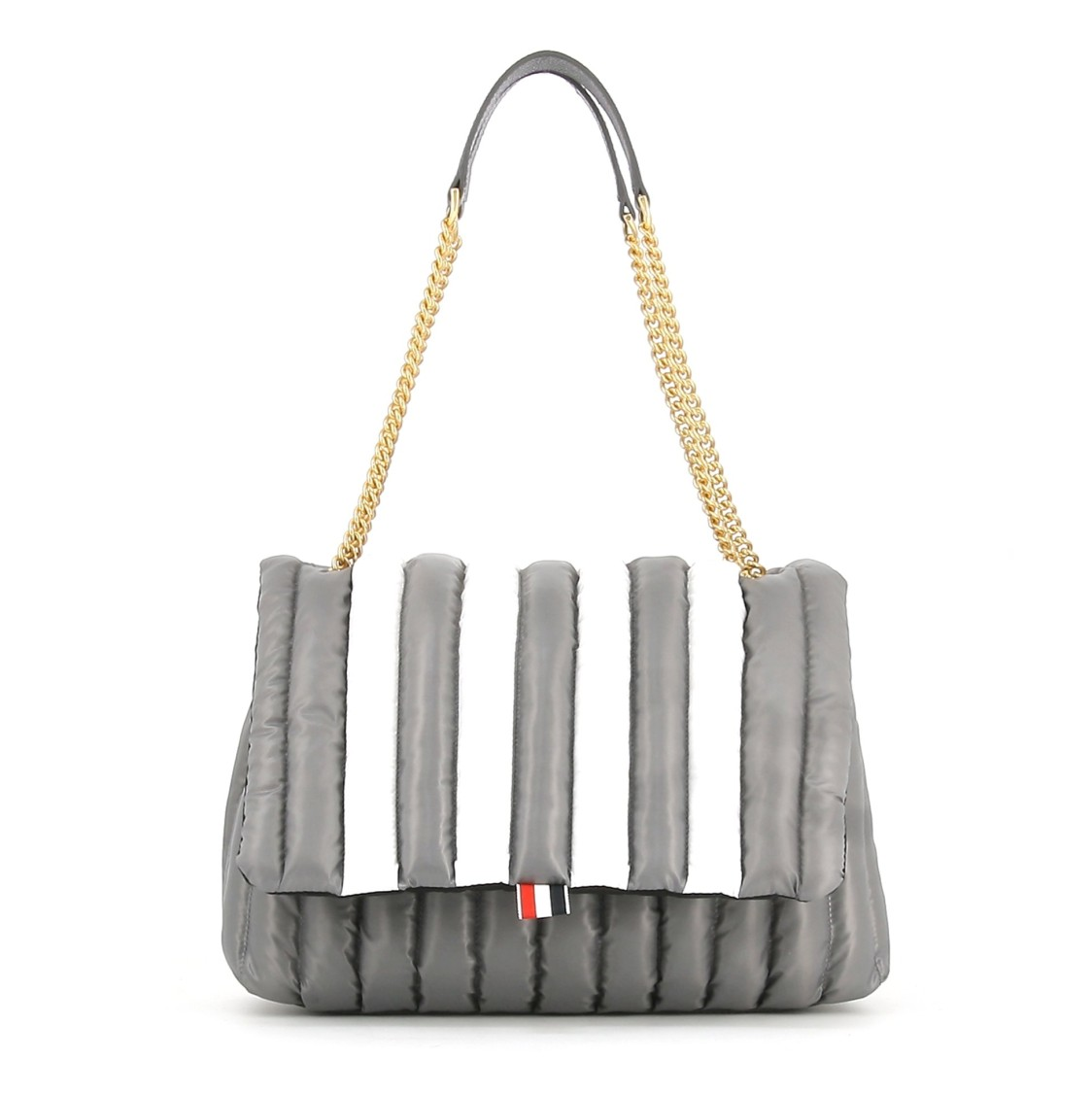 Thom Browne Bags QUILTED 4-BAR SMALL SHOULDER BAG