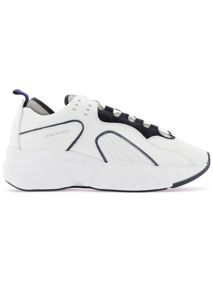 Acne Studios Leathers WHITE LEATHER SNEAKERS