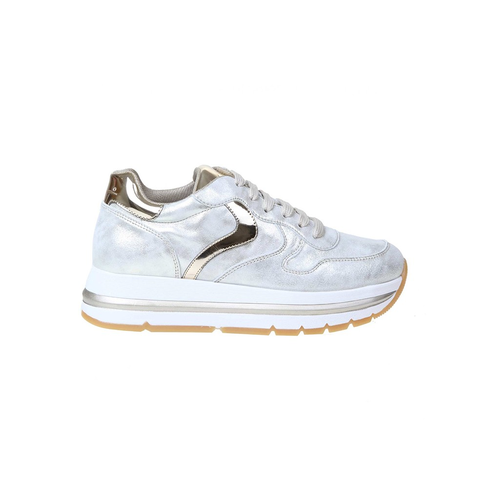 Voile Blanche SILVER LEATHER SNEAKERS