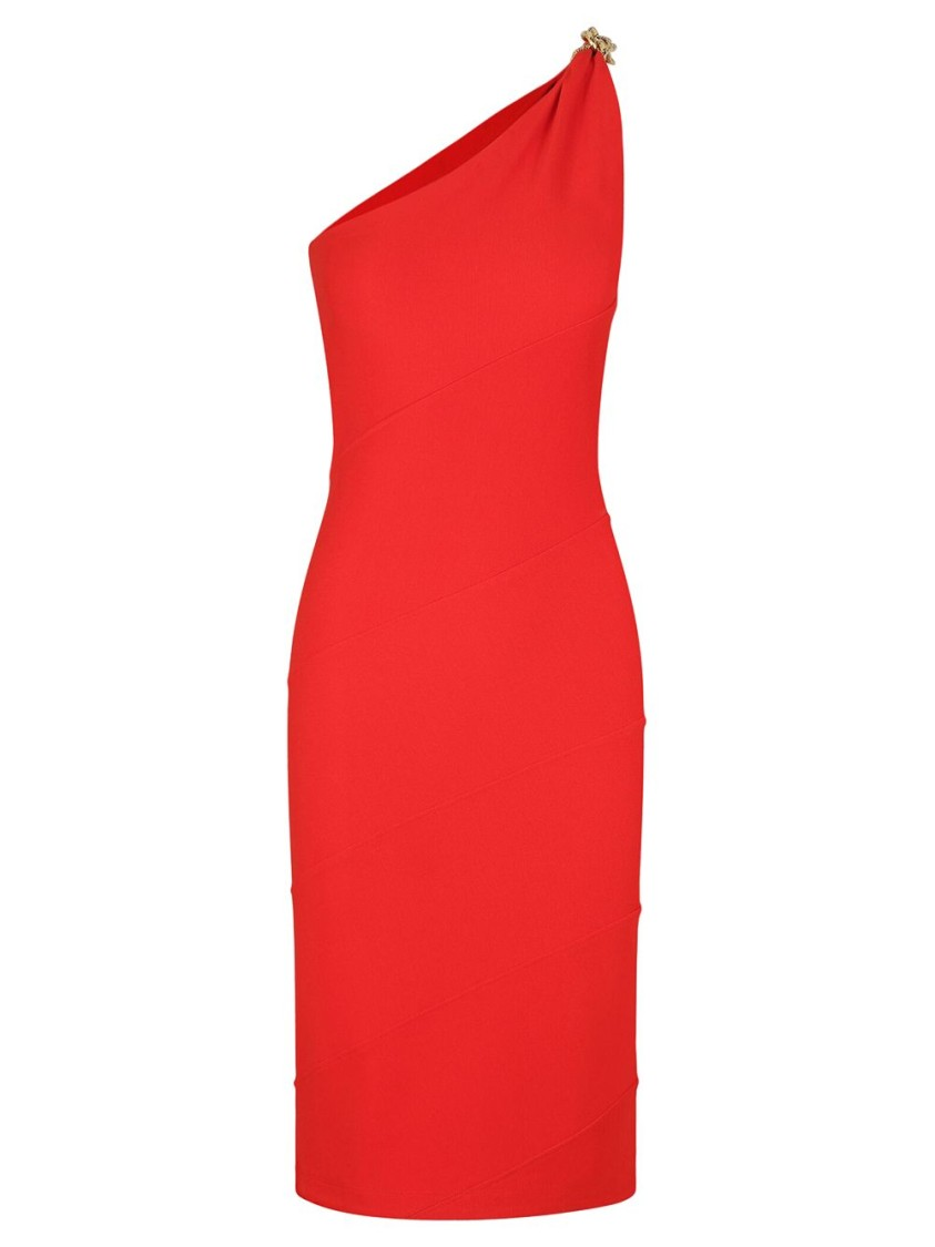 Givenchy Midi dresses Poppy Red Asymmetric Dress