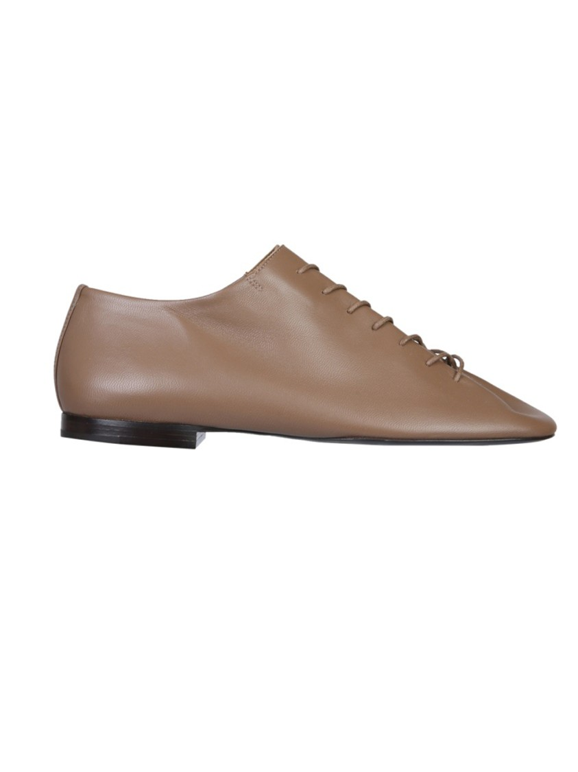 Lemaire BROWN LEATHER LACE-UP SHOES
