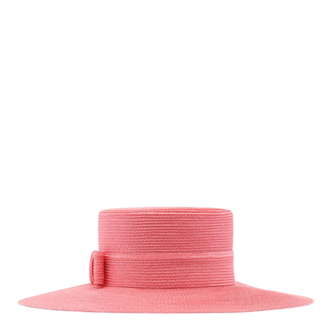 Gucci Pink Woven Straw Effect Hat