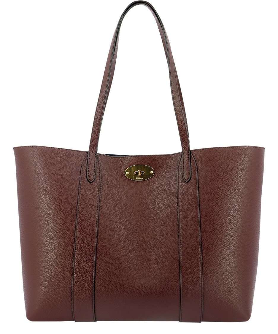 MULBERRY BAYSWATER BURGUNDY LEATHER TOTE