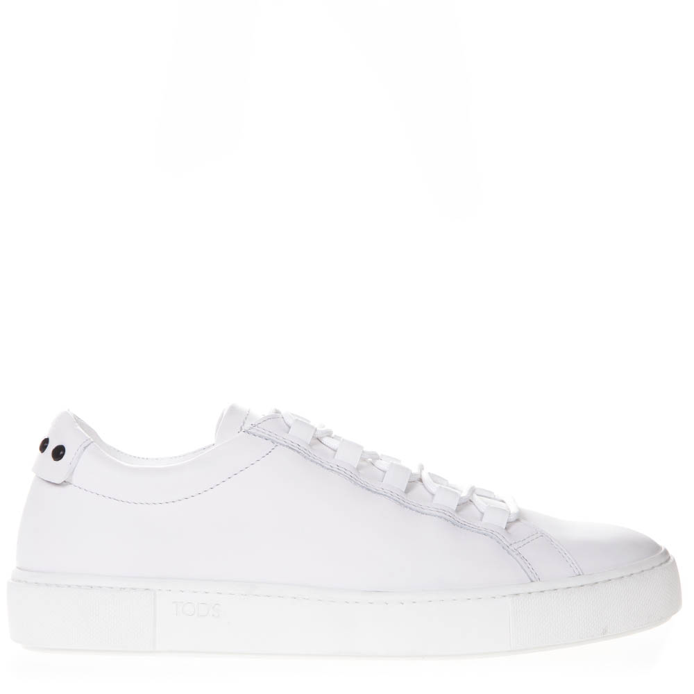 Tod's Gommini White Leather Low Top Sneakers