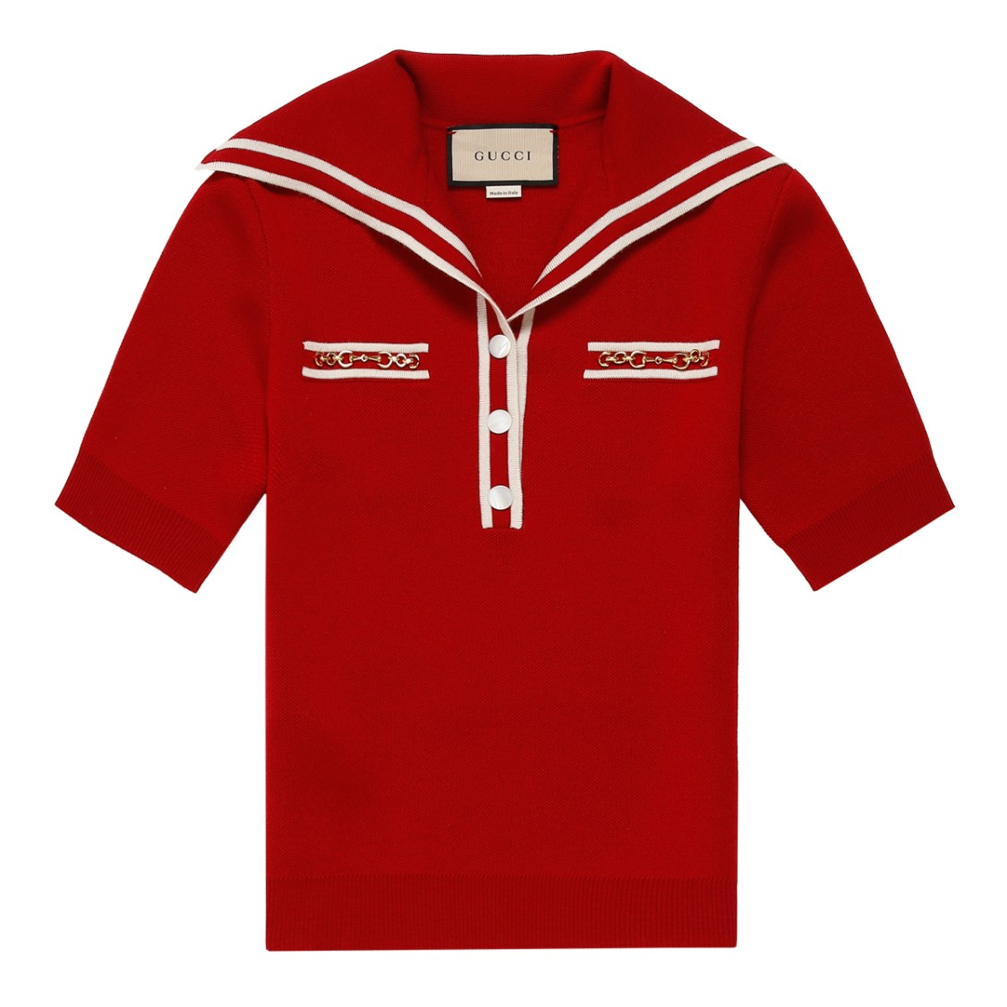 Gucci Red Wool Polo