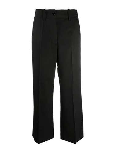 Mm6 Maison Margiela French Cotton-terry Wide-leg Pants In Black
