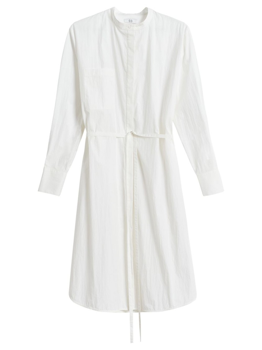 Co BELTED LONG SLEEVE TUNIC