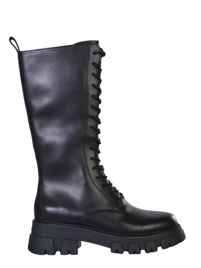 Ash LULLABY BLACK LEATHER BOOTS
